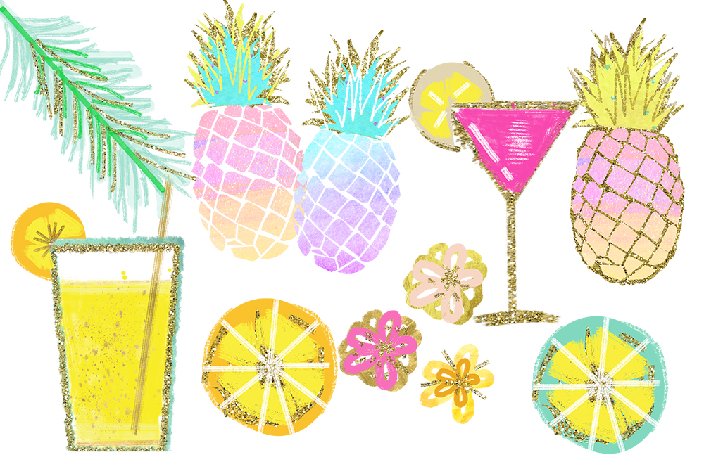 beach clipart pineapple