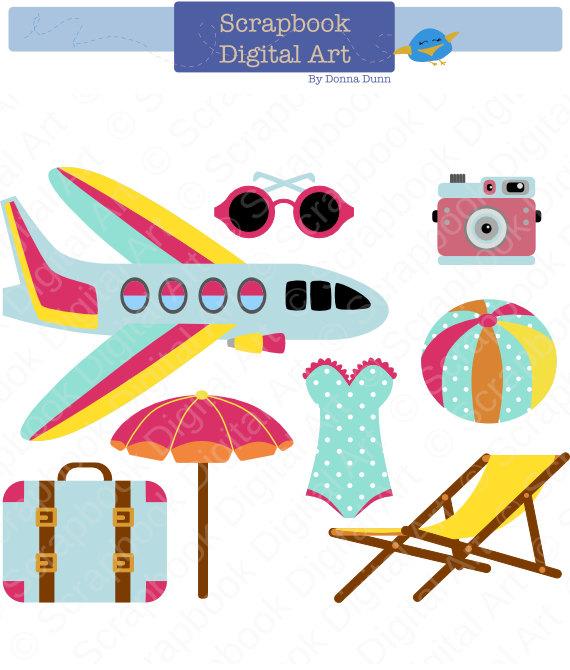 Holidays vacation clip art. Beach clipart playa