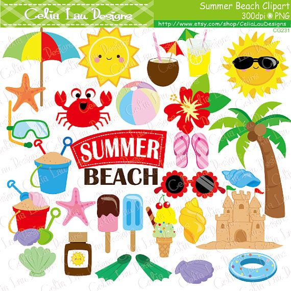 best cliparts images. Beach clipart playa