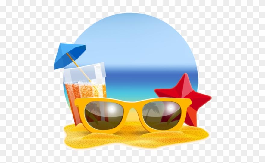 Sunglasses eyewear png image. Beach clipart playa