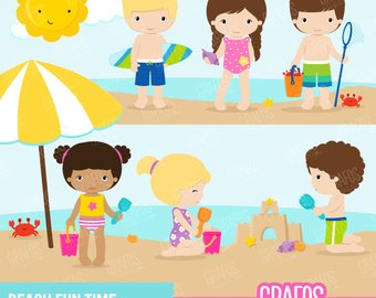 Beach clipart pool. Girls party digital set