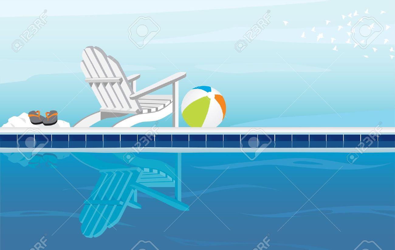 beach clipart pool