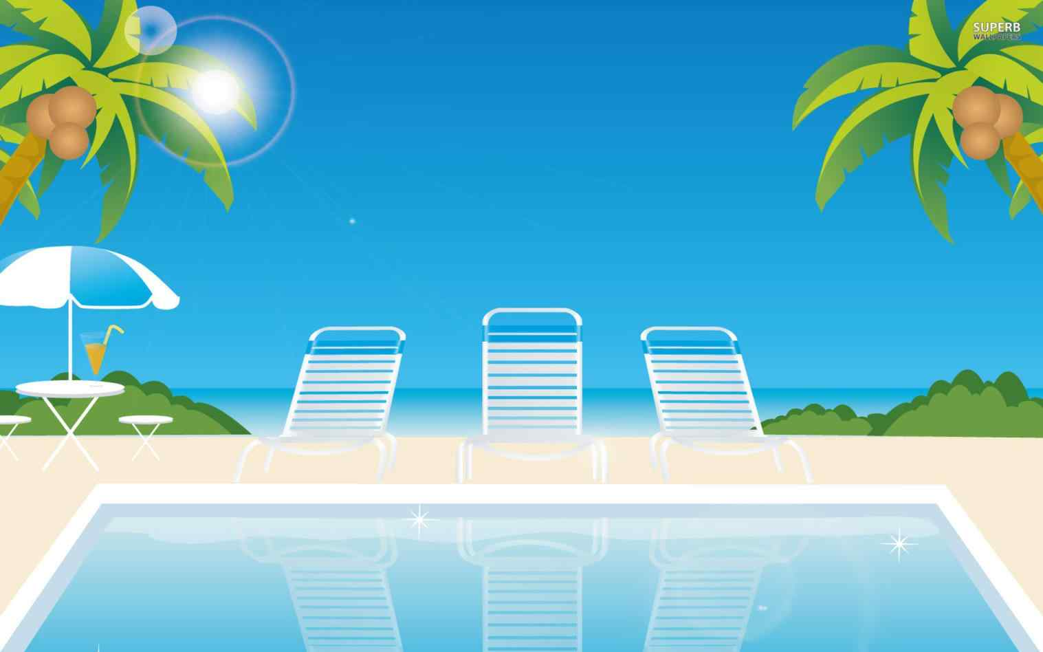 At the daily sketch. Beach clipart pool