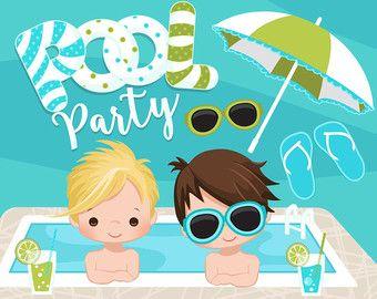 Beach clipart pool. Fun for boys summer
