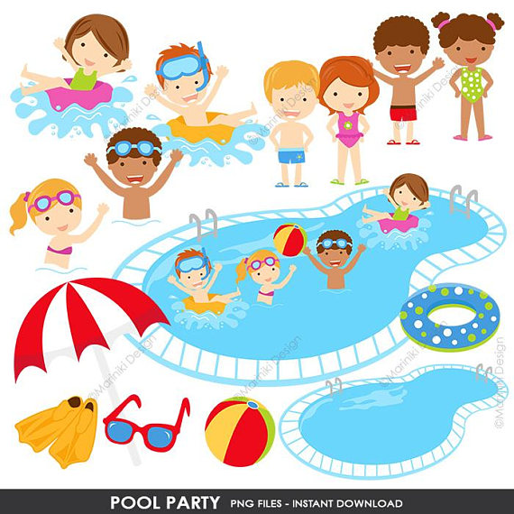 Beach clipart pool. Party summer clip art