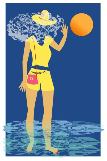 From the design droide. Beach clipart postcard