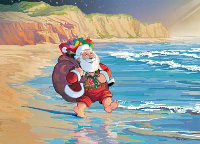 Beach clipart postcard. Postcards christmas wallpapers free