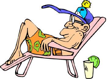 Doing what i love. Beach clipart retirement
