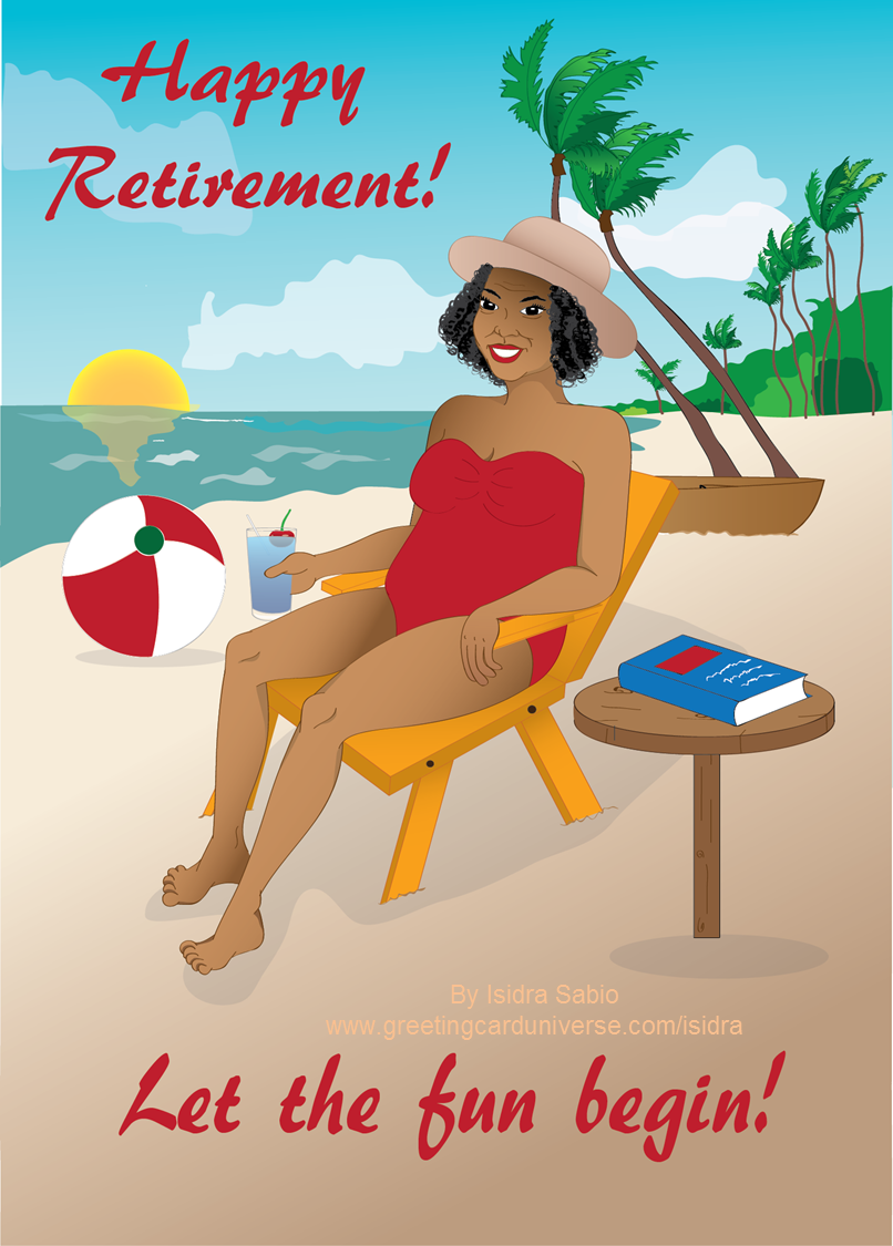 Beautiful older woman by. Beach clipart retirement