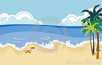 Beach clipart scenery.  collection of scenes