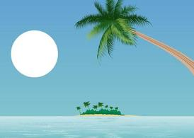 Free and vector graphics. Beach clipart scenery