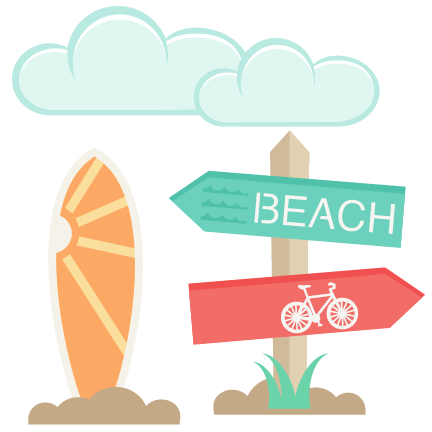 Beach clipart scrapbook. Icons set svg cut