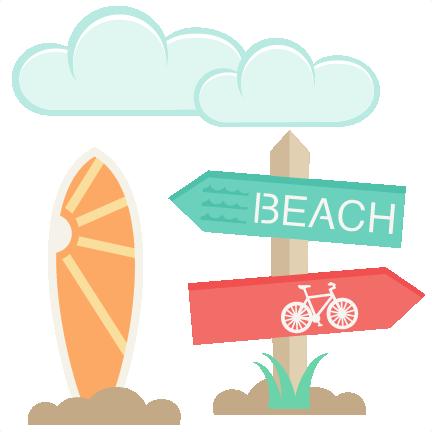 Icons set svg cut. Beach clipart scrapbook