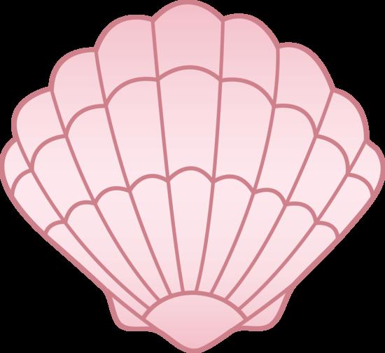 Shell clipart cute. Seashell seashellpink clip art