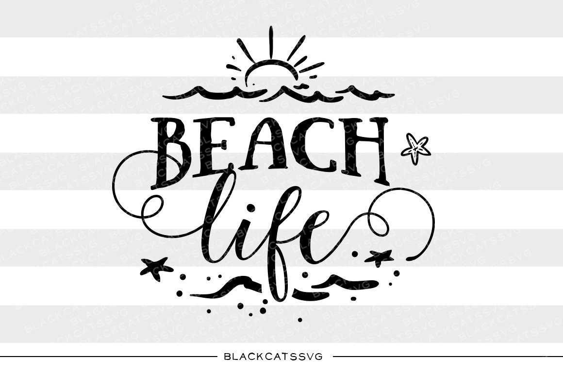 Beach clipart silhouette. Life svg file cutting