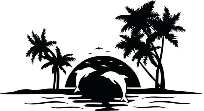 Sunset clip art best. Beach clipart silhouette