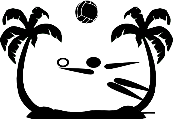 Volleyball at getdrawings com. Beach clipart silhouette