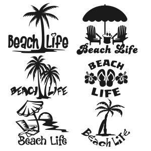 Beach clipart silhouette. Life s a pack