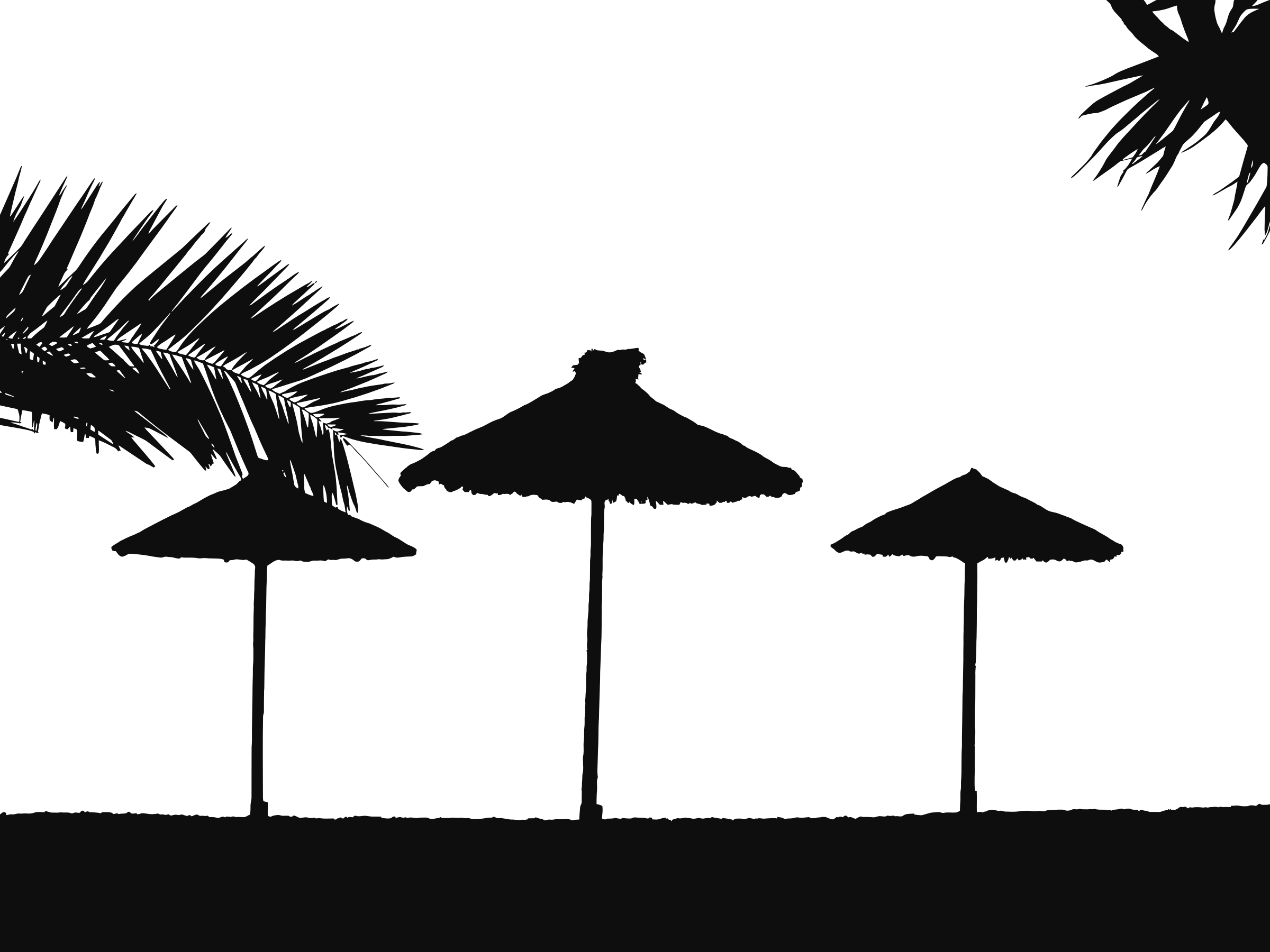 Tropical icons png free. Beach clipart silhouette