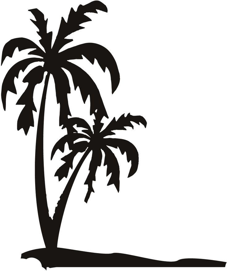 Beach clipart silhouette. Tropical island at getdrawings