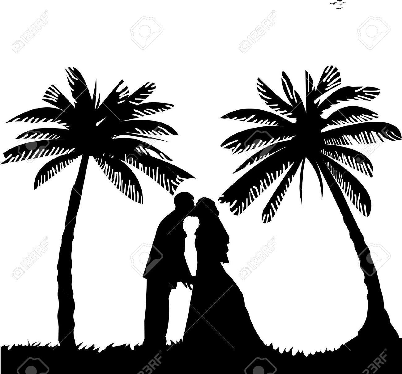 Unbelievable wedding pics for. Beach clipart silhouette