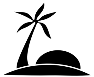 Free silhouettes cliparts download. Beach clipart silhouette