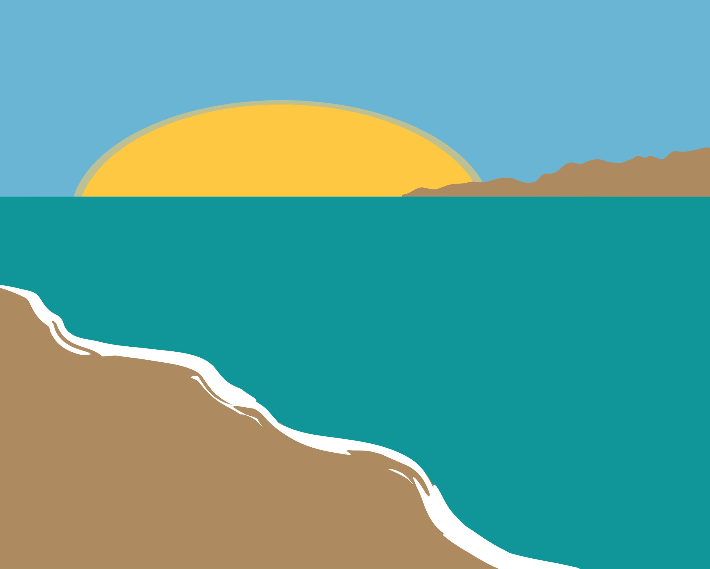 Beach clipart simple. Landscape big image png