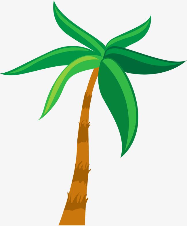 Beach clipart simple. Cartoon coconut tree png