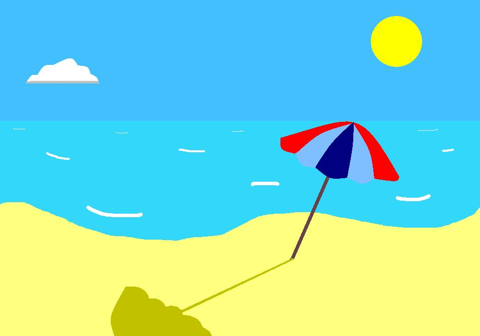 Beach clipart simple. Drawing by zylaa on