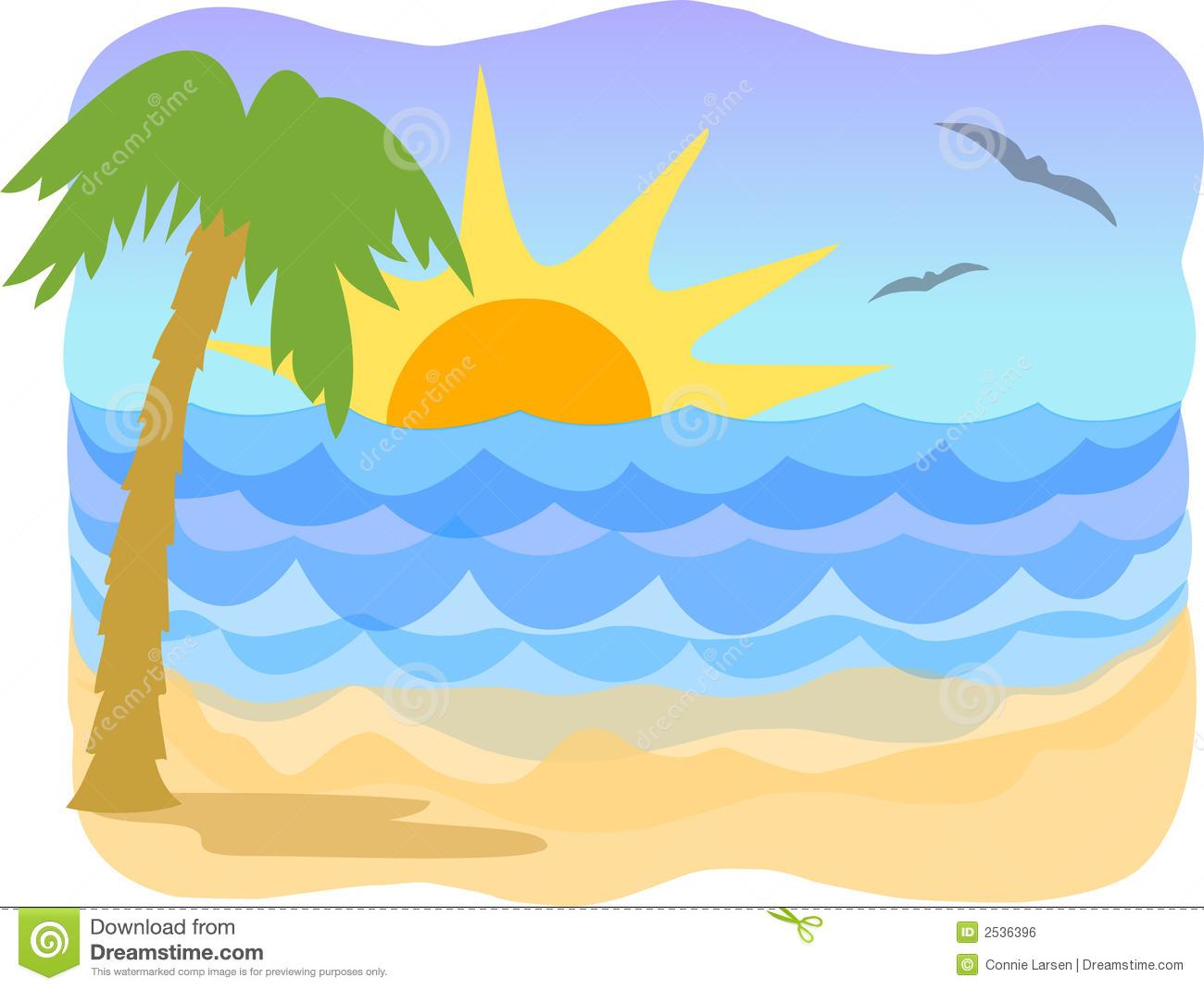 Beach clipart simple.