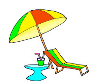 Summertime panda free images. Bench clipart beach