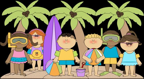 Summer kids clip art. Beach clipart summertime