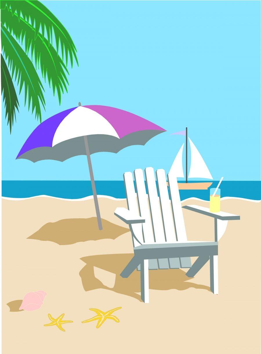 Summer time wallpaper scrensaver. Beach clipart summertime