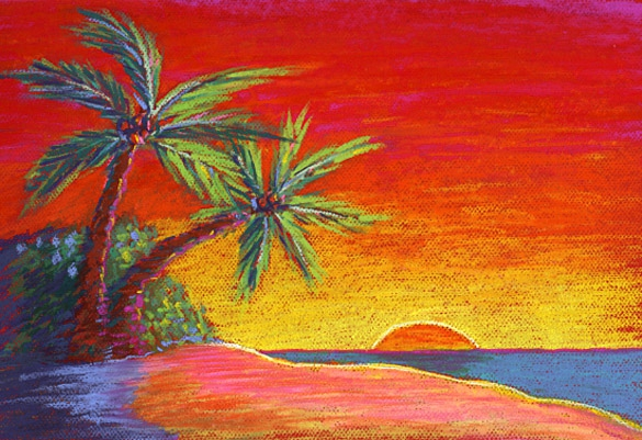 Beach clipart sunset. Embed codes for your