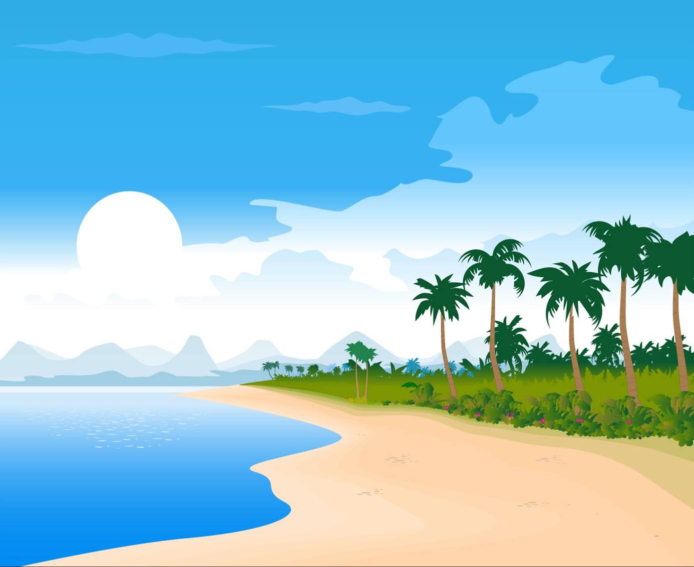 Beach clipart tropical beach.