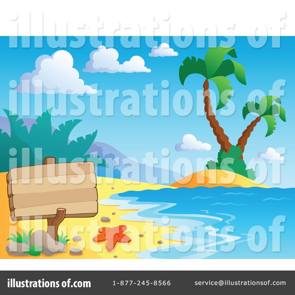 Illustration by visekart royaltyfree. Beach clipart tropical beach