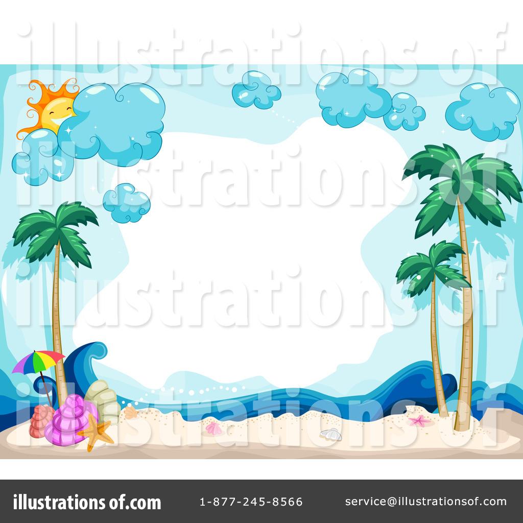 Beach clipart tropical beach. Illustration by bnp design