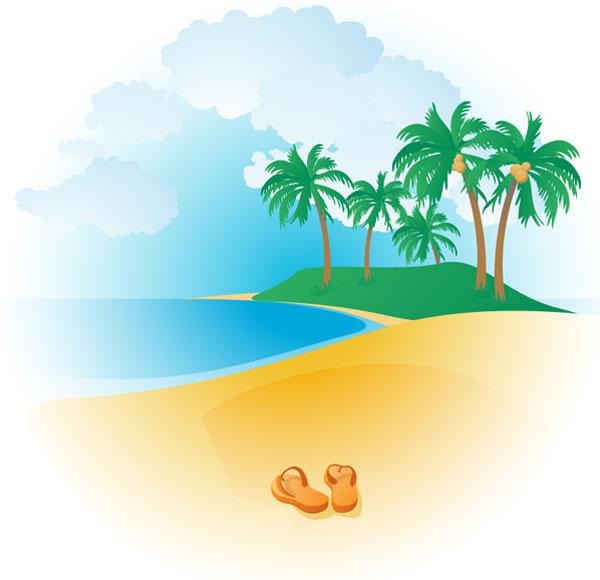 Beach clipart tropical beach. Free cliparts download clip