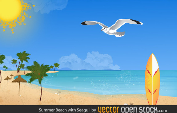 Summer free download for. Beach clipart vector
