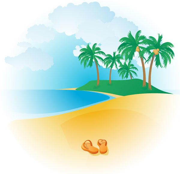 Free tropical beaches and. Beach clipart vector