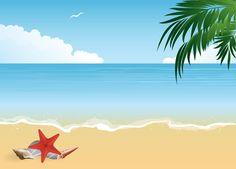 Beach clipart vector. Clip art summer wallpapers