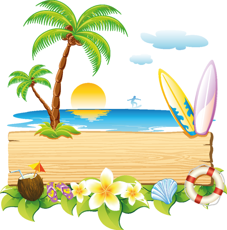 Beach clipart vector. Pin by patricia acevedo