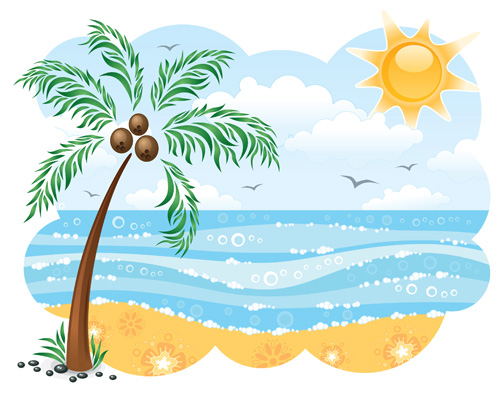 Tropical panda free images. Clipart beach