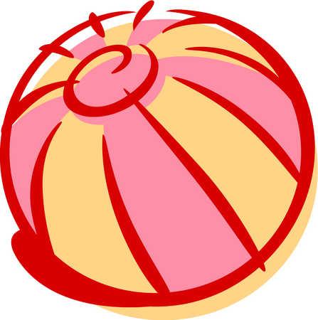 Stock illustration cartoon drawing. Beachball clipart 1 ball