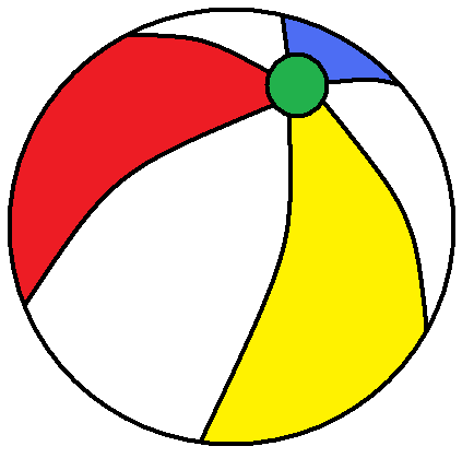 Beachball clipart. Free picture of beach