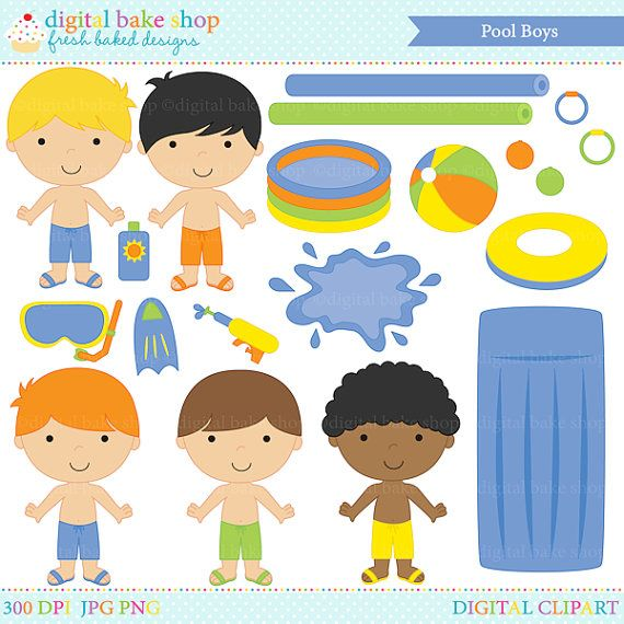Pool party digital clip. Beachball clipart animal
