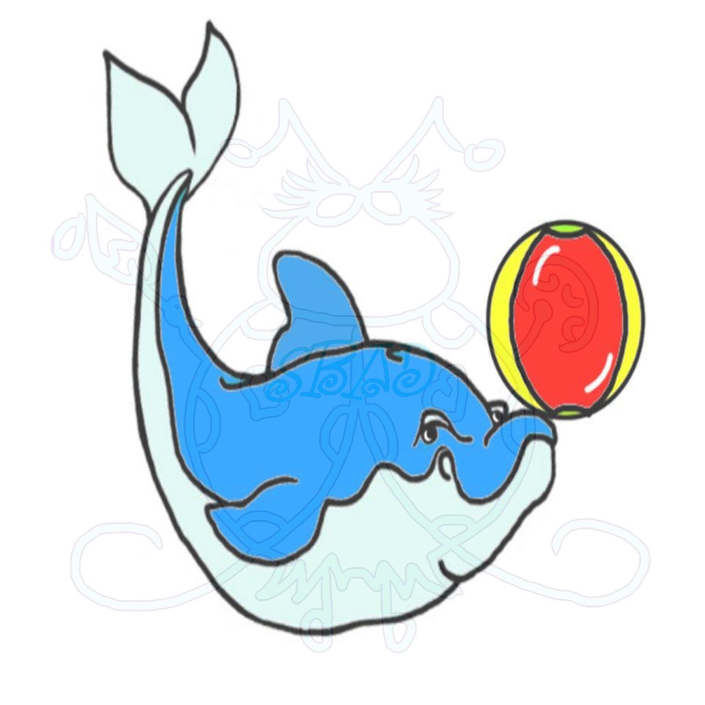 Dolphin beach ball digital. Beachball clipart animal