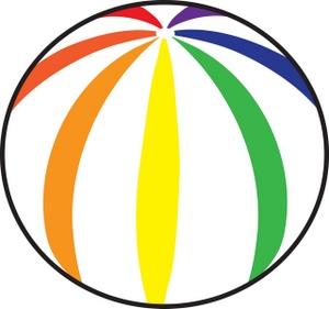 Free beach ball clip. Beachball clipart bal