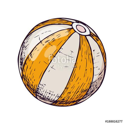 Beachball clipart beach accessory. Ball on white background