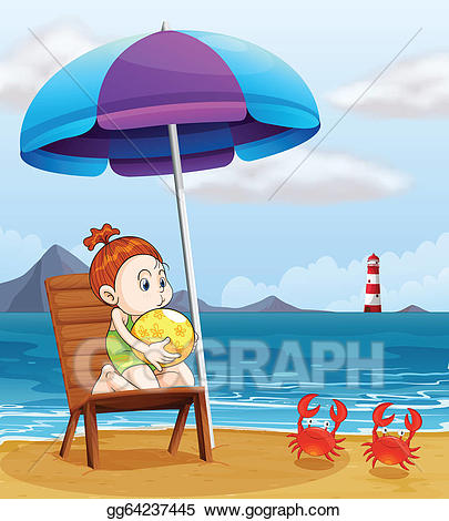 Beachball clipart beach accessory. Eps illustration a young